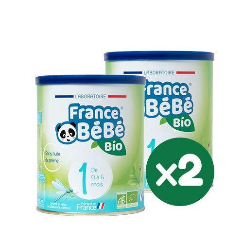 FRANCE BéBé BIO - Lait infantile pour nourrisson bébé 1er âge en poudre - Lait fabriqué en France - 13 Vitamines 12 Minéraux - Pack 2 boîtes de 400g