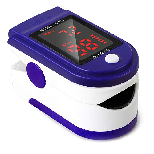 Entweg Pulsoximeter, Fingerspitzen-Pulsoximeter Pulsfrequenzdetektor LED-Anzeige des Blutoximeter-Monitors