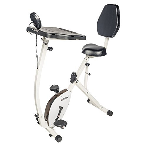 FitDesk Exercise Bike Recumbent Exercise Bike with Sliding Desk - Stand Up Desk for Home Use or Office