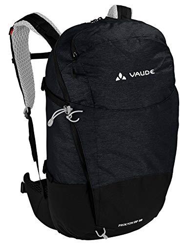 VAUDE Rucksaecke20-29l Prokyon Zip 28, Geräumiger Wander- und Outdoorrucksack, black, Einheitsgröße, 141370100