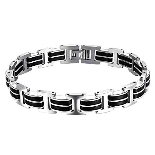 Falaiws Herren-Armband, kombiniertes Armband, verstellbare Handschlaufe, elastisches Armband, Vintage-Stil, Legierung, Armband für Party-Touren