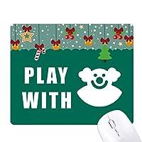 道化師笑い ゲーム用スライドゴムのマウスパッドクリスマス