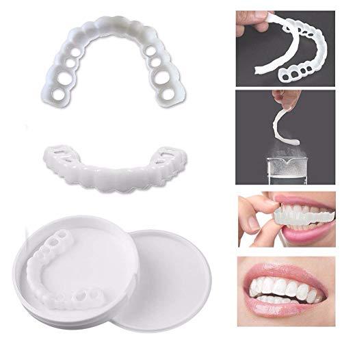 Diente de Cosmética Temporal Estéticos Flexibles para Adultos Snap on Perfect Smile Confortable Chapa Cubierta Accesorios de Cuidado Reutilizable Orgulloso de Sonreír