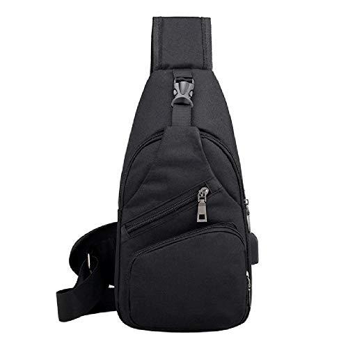 YoxYo Schwarz reißverschluss männer gürteltasche Unisex Mode multifunktions Crossbody Outdoor gürteltasche Casual Brust Tasche mit USB