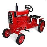 International Harvester Wide Front 1466 Black Stripe Pedal Tractor with Muffler ZSM1227
