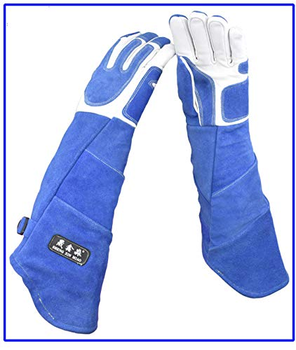 Een van de tien miljoen om u te ontmoeten Anti-dier grijpen leren handschoenen Lange verdikking training hond tamer huisdier handschoenen Huisdier winkel beschermende handschoenen
