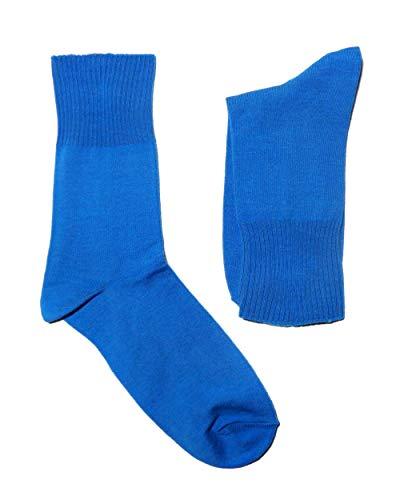 Weri Spezials Damen Socken Ges&heitssocken Diabetiker Socken in modernen uni Farben,mit weichem Gummirand (39-42, Diva blue)