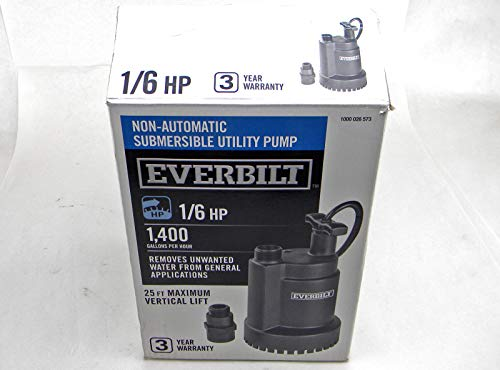 Everbilt 1/6 HP Submersible Utility Pump