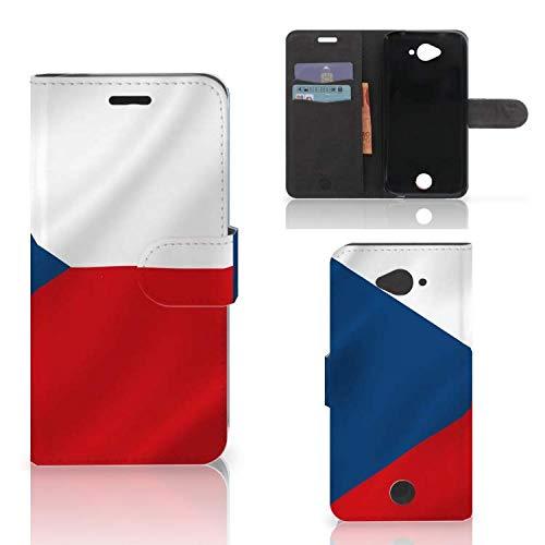 B2Ctelecom Handyhüllen für Acer Liquid Z530 | Z530s Kartenfach Tasche Tschechische Flagge