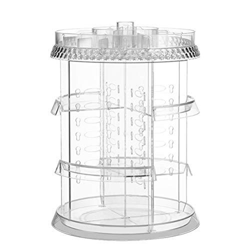 Shounadai Estante de la Caja de Almacenamiento de múltiples cosméticos Giratorio Mesa de tocador Transparente de Escritorio (Color : Transparent)