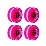 CenYC Luminous Light Up - Ruedas para patinaje sobre ruedas con rodamientos, ruedas para patines de dos filas y monopatín