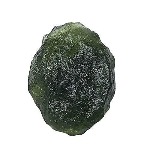 ABCBCA Natürliche MoldaVIT Tschechische Meteoriten-Schlag-Glas-raues Stein-Kristall-Energie-Stein 1pc (Size : 22 25g)