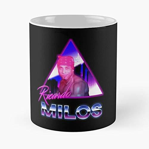 queenly Guy Dancing Ricardo Meme Milos La Mejor Taza de café de cerámica de mármol Blanco de 11 oz