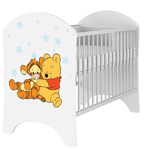 Babybett 120x60 cm Kinderbett DISNEY Minnie Mouse, Mickey Mouse, Winnie de Pooh, Bambi (Winnie de Pooh 1)