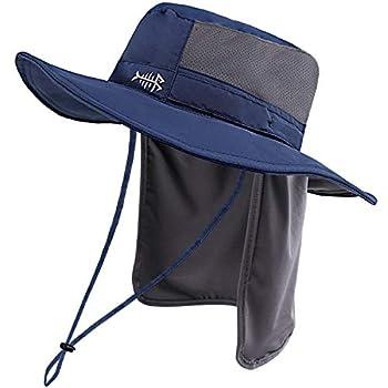 Bassdash UPF 50+ Sun Fishing Hat Water Resistant with Detachable Neck Flap Dark Blue