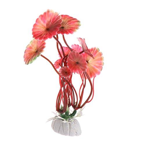 Rtengtunn Wasserpflanze, Wasserpflanzen Aquarium Dekoration Künstliche Wohnaccessoires Aquarium Landschaft - rot