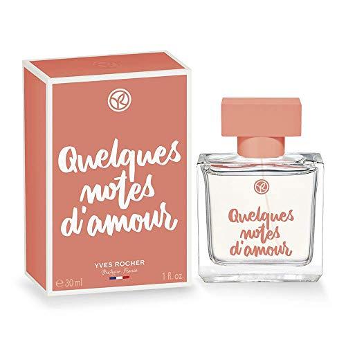 Yves Rocher QUELQUES NOTES D'AMOUR Eau de Parfum, sinnlich romantisches Parfum, mit Rose & Hölzern, Geschenk-Idee, 1 x Zerstäuber 30 ml