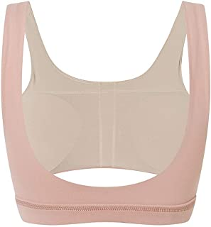 Beautiful Running Shockproof Professional Fitness Sports Bra Big Chest Gathered Hollow Breathable Beautiful Back Bra Comfortable (Color : Pink, Size : XS)