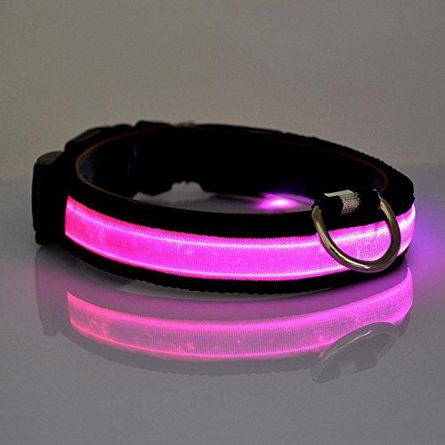 Vi.yo LED Collar de Perro Collar Reflectante con luz LED Collar Para M
