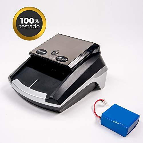 HILTON EUROPE HE-300SD actualizado a los nuevos billetes 100 y 200 € Detector Billetes Falsos actualizable portátil con batería con 7 sistemas de detección