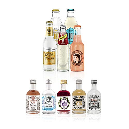 Breaks Gin Tasting Box No. 2 - Deine Gin-Tasting-Box für Zuhause! 5 Breaks Gin + 5 Flaschen verschiedene Tonic Water, inklusive Anleitung. Sehen, riechen, schmecken.