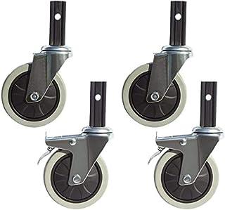 Casters 4 x wielen, Castor100 mm, draaibaar, rem, combinatie voor voedsel cartsShopping CartsSoft Wheels, Silent en slijtv...
