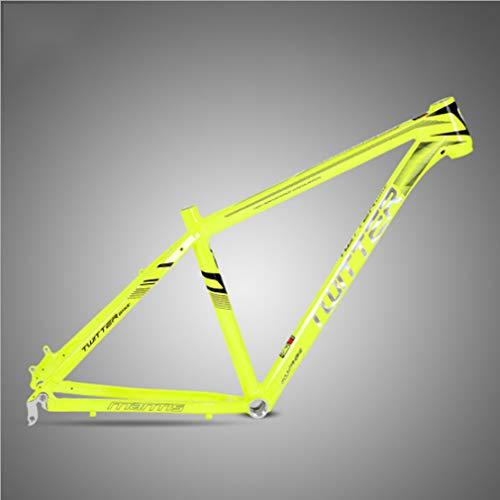 SHUAIGUO Montaña Cuadro de la Bicicleta Cuadro de la Bicicleta de aleación de Aluminio 2,0 Plana soldada Accesorios de Ciclismo Bicicleta cableado Interior,17 Inch