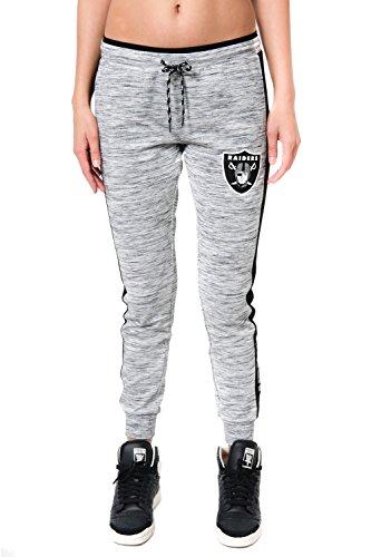 Ultra Game NFL Las Vegas Raiders Womenss Active Basic Fleece Jogger Sweatpants, Gray Space Dye, X-Large