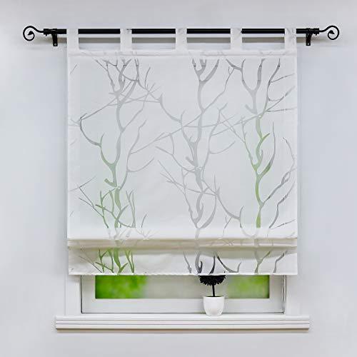Joyswahl Thea - Estor de voile monocolor, diseño con impresión de Branch