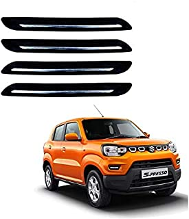 Kozdiko Car Single Chrome Bumper Protector Set of 4 Pcs for Maruti Suzuki S-Presso