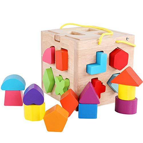 Lihgfw Baby Spielzeug Jungen Mädchen 0-15 Jahre alt Kinder Erleuchtung Frühaufbau Bausteine Holzspielzeug (Color : Multi-Colored)