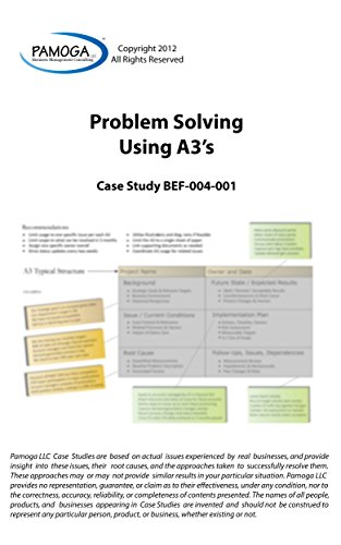 Problem Solving Using A3's (Pamoga LLC Book 10) (English Edition)