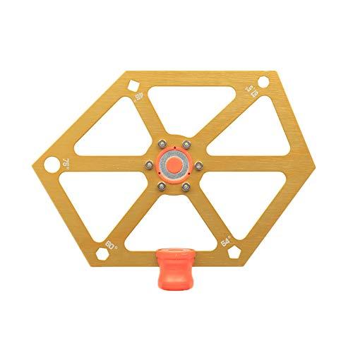Alston Woodworking Regla magnética multiángulo, regla hexagonal de ajuste de ángulo de sierra de mesa, herramienta de ajuste de ángulo para máquina de corte 45-54-60-67.5-75° (dorado)