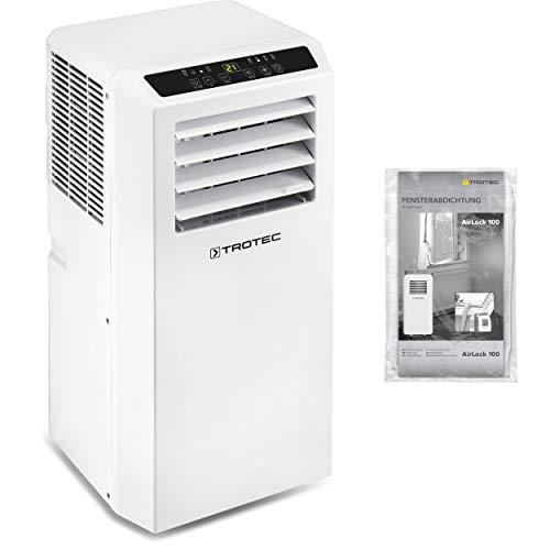 TROTEC Lokales Klimagerät PAC 2010 SH mobile 2,0 kW Klimaanlage 4-in-1-Klimagerät zur Kühlung Klimatisierung und Heizung 1,8kW [EEK A] ink. Airlock 100