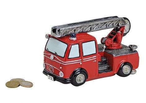 Spardose - Feuerwehrwagen - Feuerwehr - Sparbüchse 16X8X10CM
