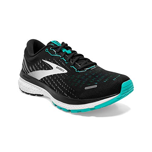 Brooks Damen Ghost 13 Laufschuh, Black Blue Bird White, 40 EU