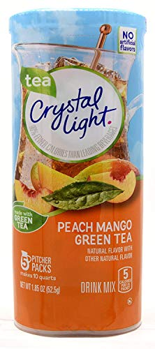 Crystal Light Peach Mango Green Tea Drink Mix, 5 Pitcher Packs - PACK OF 3