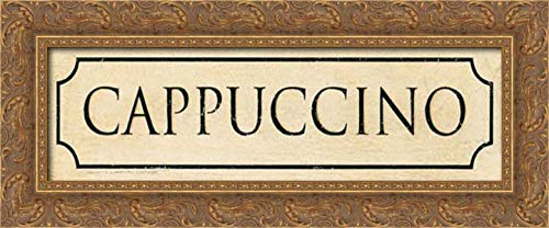 Marrott, Stephanie 24x9 Gold Ornate Framed Canvas Art Print Titled: Cappuccino