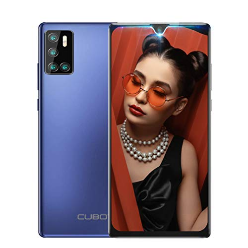 "CUBOT P40 Handy ohne Vertrag, Dual SIM Smartphone 4GB RAM + 128G ROM Android 10.0 6,2\"" Wassertropfen Bildschirm 4200mAh Große Batterie 20MP Front& 12MP+5M Back Kamera 128GB erweiterbar (Lila)"