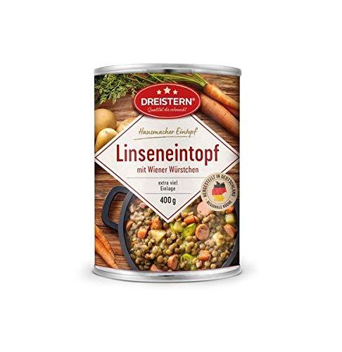 Dreistern Hausmacher Linseneintopf + Wiener Würstchen 400gr Dose