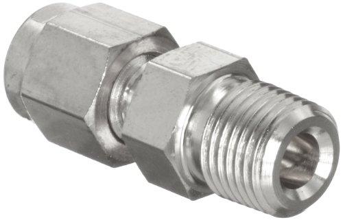 Parker A-Lok 4MSC4N-316 316 Stainless Steel Tube Fitting, Adapter, 1/4 Tube OD x 1/4 NPT Male