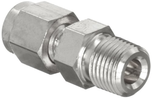 uxcell Stainless Steel Compression Tube Fitting 1//4-inch NPT Male x Ф1//2-inch Tube OD