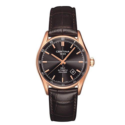 Certina 0 - Reloj de automático para Hombre, con Correa de Cuero, Color marrón