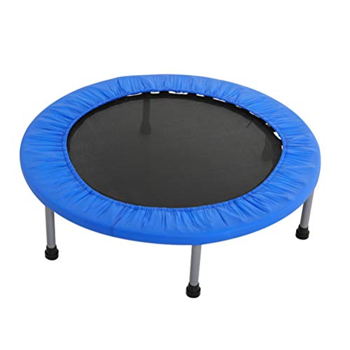 Indoor Fitness Trampoline Folding Multifunction 48 Inches Trampoline, Foldable High Bounce Motion Toy Bouncer, on Hips and Legs Muscle Get on Dense Training Rebounder Load: 200kg Exercise Trampoline R