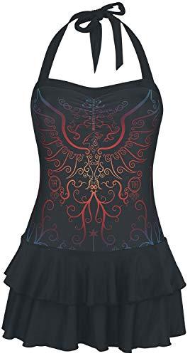 HARRY POTTER Phoenix Donna Costume da Bagno Nero L 80% Poliestere, 20% elasthane