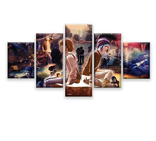 Pinturas 5 Piezas Life Is Strange Canvas Painting Living Room HD Prints Game Poster Picture Wall Art…