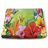 Ladninag Seat Cushion Spring Floral Butterfly Chair Cushion Special Offices Butt Chair Pads for Wheelchairs