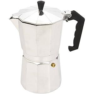 Ibili Bahia macchina per caffè espresso, macchina per il caffè, alluminio moka bollitore per 9 tazzine
