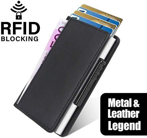 Nuevo bolsillo para tarjetas de crédito hecho de aluminio a mano, tarjeta de banco automática antidesmagnetización, clip de metal, tarjetero.