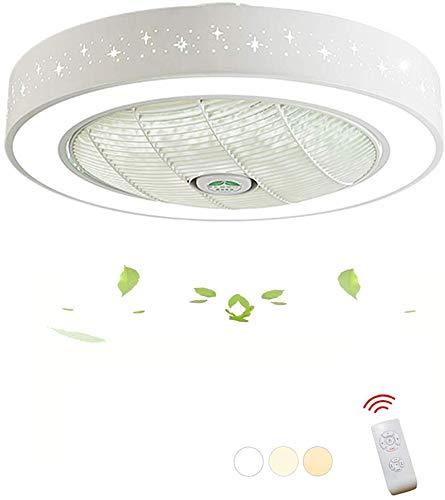 Smotly led-plafondlamp, aSDJustable-plafondventilator met verlichting en afstandsbediening voor het verduisteren van de extreem stille, energiebesparende plafondlamp